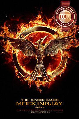 NEW THE HUNGER GAMES MOCKINGJAY MOVIE FILM ORIGINAL CINEMA PRINT PREMIUM POSTER (Hunger Games Dekorationen)