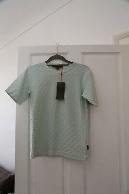 KATHARINE HAMNETT DENIM Womens cotton mint top, short sleeve, M