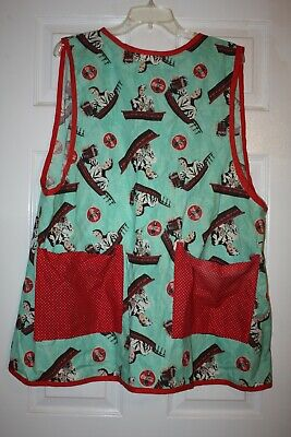 VINTAGE HAND MADE COCA COLA ADVERTISING FABRIC KITCHEN COOKING SMOCK APRON