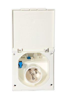 Mains Hook Up Inlet Socket  White  Camper / Caravan / Motorhome / Van T5
