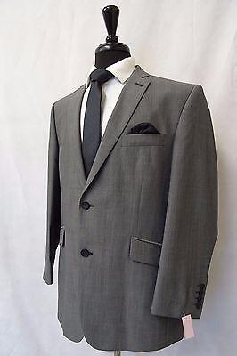 Men's Scott By The Label Slim Fit Grey 2 Piece Suit 40L W34 L33 CC5896