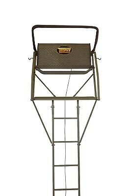 TROPHY TREESTAND EVERLAST 2 PERSON LADDER TREESTAND with a DRAWTIGHT SAFETY -