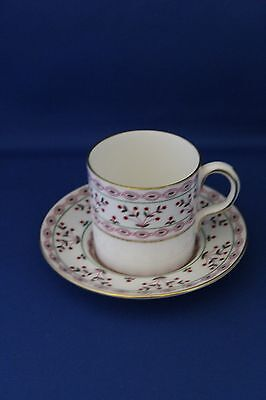 ROYAL CROWN DERBY BRITTANY PATTERN COFFEE CAN/ CUP AND SAUCER DATE MARK 1978