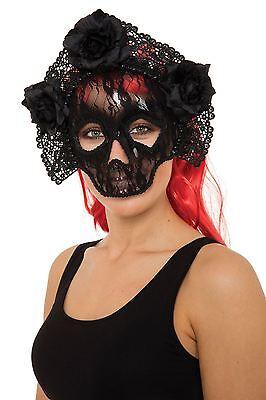 Ziemlich tödliche Spitze Schädel-Maske, Abendkleid-Partei-Kostüm-Zusatz #DE (Halloween Ziemlich Kostüme)