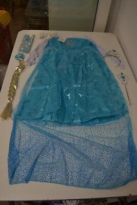 Eiskönigin Prinzessin Elsa Kleid Frozen Kostüm Eisprinzessin Set Gr.120
