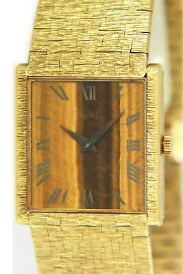 Piaget Classic 18k Yellow Gold Tiger Eye Ladies 23mm Manual Watch 9286 A 6