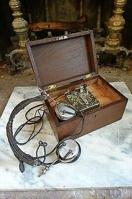 Vintage Antique PHILMORE LITTLE WONDER CRYSTAL RADIO SET in Wood Box w/Earphones