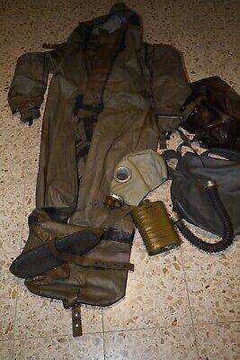 NVA ABC Vollschutzanzug Gummianzug Gummioverall Gr. 2 mit  Schutzmaske Gasmaske