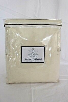NIP WILLIAMS SONOMA HOME Signature linen sheet set king ivory