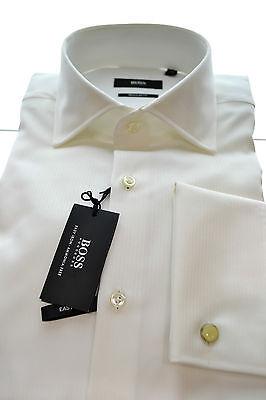 Hugo Boss Herrenhemd Manschetten Zwilling Art. Gale Stoff Zeremonie Regular Fit