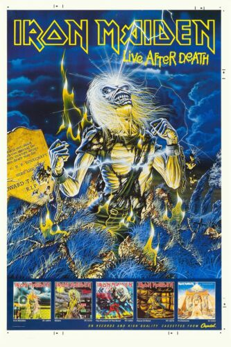 Iron Maiden * Life After Death * Promotional Poster 1985 Wide Format 24x36
