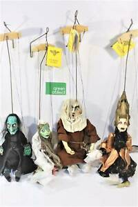 Strasidlo Marionettes-Czech Rep. Set of 4 individual puppets w. book. Braybrook Maribyrnong Area Preview