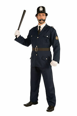 British Bobbie Police Cop Officer Uniform Halloween Costume Accessories Adult