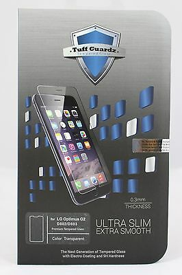 Tuff Guardz Best New  Premium Tempered Glass Screen Protector LG (Best Glass Screen Protector For Lg G2)