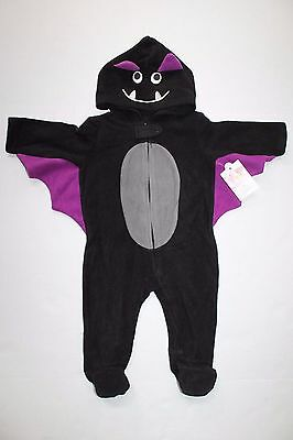 Boy Wonder Halloween-kostüm (BOYS GIRLS  6 9 MOS BAT BLACK PURPLE HALLOWEEN COSTUME LITTLE WONDERS)