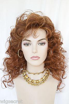 Light Auburn, Light Ginger & Wildfire Red Long Medium Curly - Ginger Wig