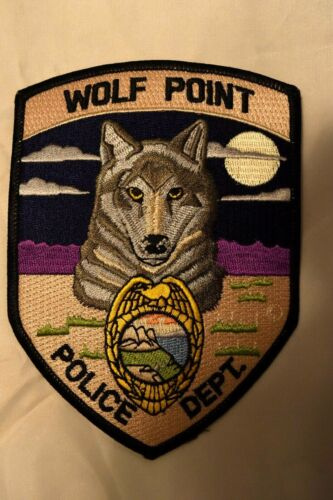 POLICE PATCH WOLF POINT MONTANA POLICE DEPARTMENT
