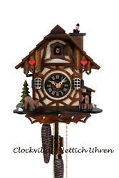 cuckoo clock black forest 1 day  german moving chimney sweep mechanical new