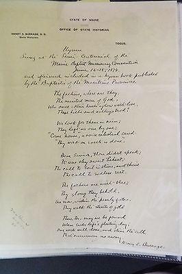 H. Burridge Autograph Manuscript Signed - Civil War 36th Massachusetts Infantry