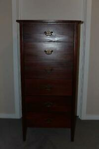 Tallboy Timber Chest of six Drawers