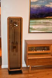 George Nelson for Howard Miller Grandfather Clock, mid century modern circa 1950