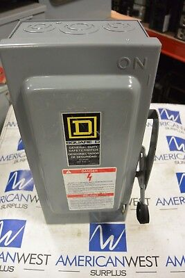 Square D D222n 2p 240v 60 Amp Nema 1 Fusible Disconnect Switch New