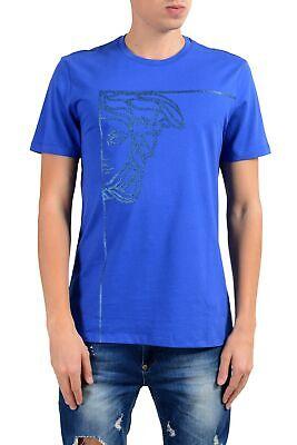 Versace Collection Men's Blue Graphic Crewneck T-Shirt