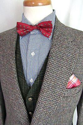 Vtg HARRIS TWEED Wool Blazer ~ 40 R ~ suit jacket / sport coat STAFFORD Hunting