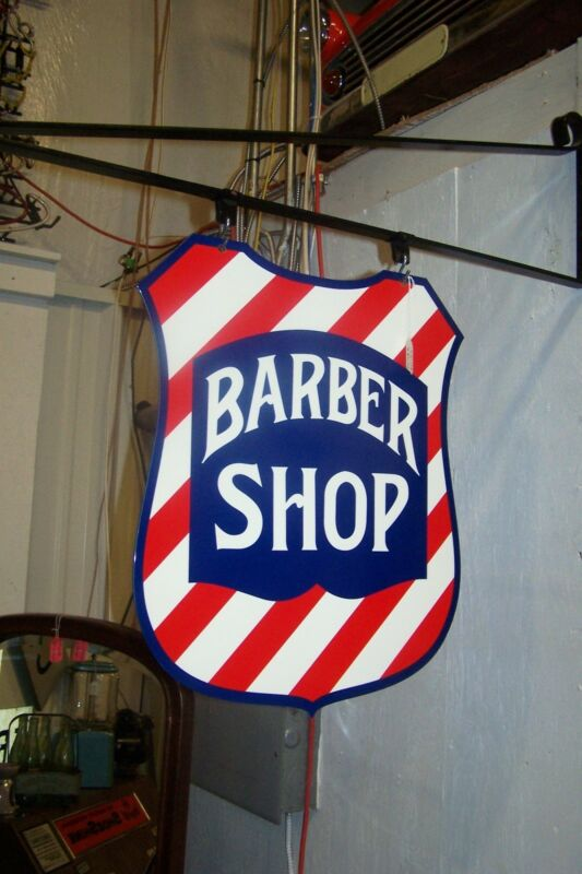 BARBER SHOP SHIELD SIGN