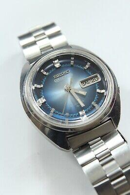 Vintage JDM Seiko 5 Actus 7019-7210 Mens Watch Original Bracelet Kanji Day Wheel