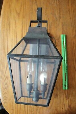 Georgian Art Lighting Brass Lamp Glass Vintage Coach lantern style wall sconce Brass Coach Lights