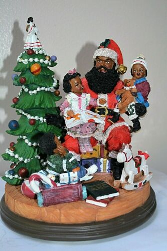 African American Santa---Musical Santa & Children- We Wish You A Merry Christmas