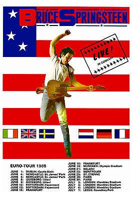 The BOSS: Bruce Springsteen European Tour Poster Circa 1985