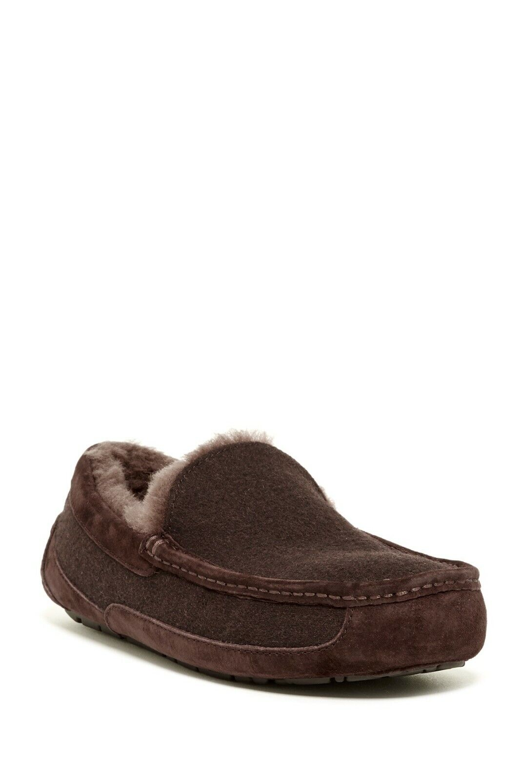 UGG Mens Ascot Wool Slippers - BRAND NEW - Suede Accents - H