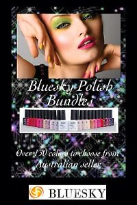 Bundle of 10 bluesky gel  nail polish needs lamp to cure shellac/gel