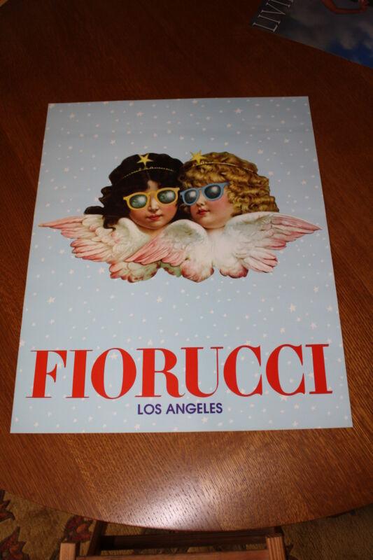 """FIORUCCI ORIGINAL VINTAGE ITALIAN AD Poster 19"""" x 23.5 """" Los Angeles Unused MINT"""