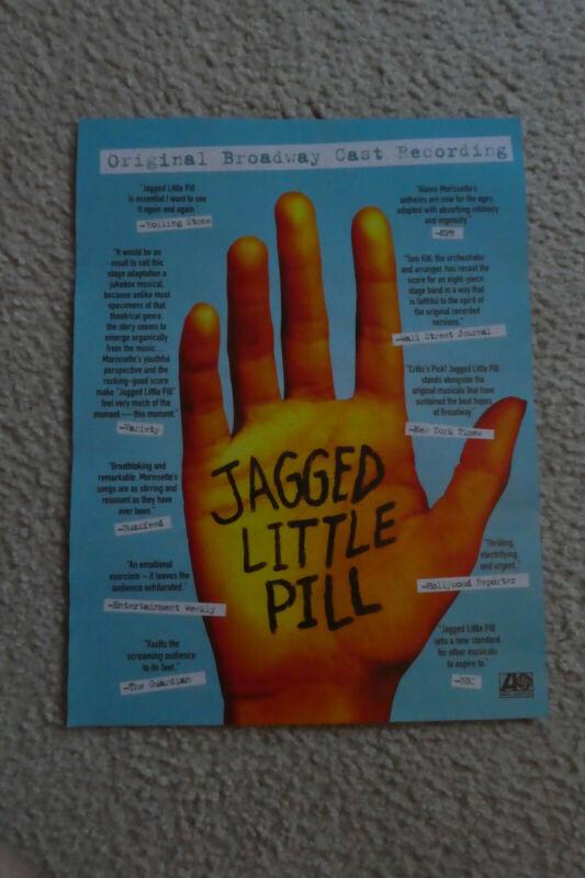"ALANIS MORISSETTE ""Jagged Little Pill Broadway Cast"" 2020 Billboard Mag.PROMO Ad"