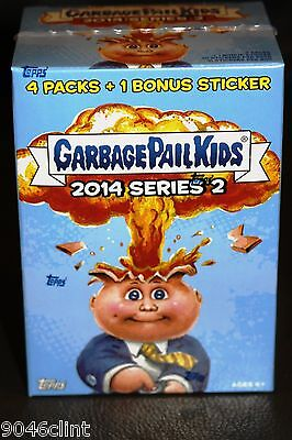 GARBAGE PAIL KIDS 2014 SERIES 2 SEALED BONUS BOX W BONUS CARD RARE GPK 1ST