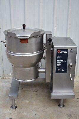 Groen Dee4-20 Electric Steam Jacketed Tilting Kettle 20 Gallon