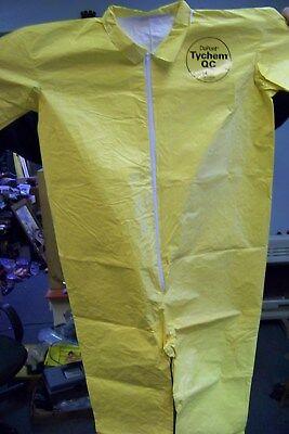 Dupont Qc120s-sgl-l Qc120syllg001200 Tychem Coverall Lg