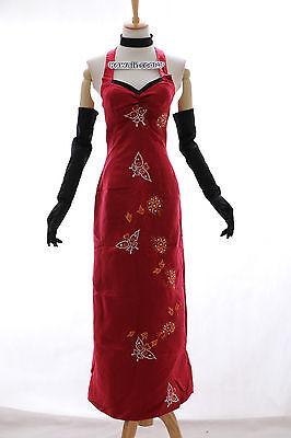 H-0 M/L/XL/XXL Resident Evil Ada Wong rot Cosplay Kostüm chinese costume Kleid