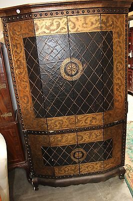 Black   Gold Harlequin Accented Entertainment Center