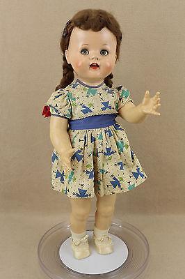 "22"" vintage Flirty Eyed hard plastic Ideal Saucy Walker Doll"