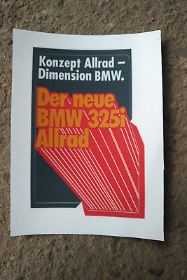 Aufkleber Sticker Vintage 80er BMW E30 325ix Allrad 80er