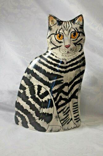Cats by NINA LYMAN,  Ceramic Vase Tabby Utensil Holder
