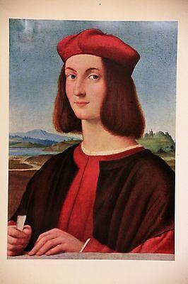 Raffaello Santi, Portrait of Pietro Bembo , Offset. LITHOGRAPH. 1960,UNSIGNED.