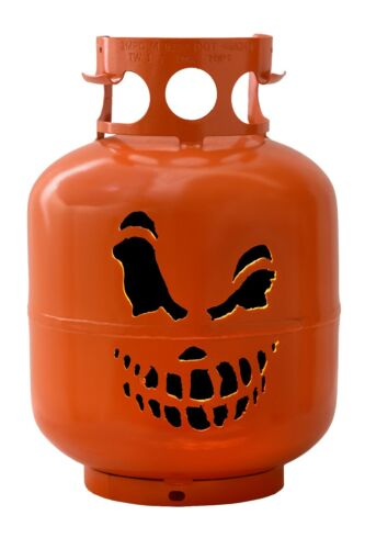 Jack O Lantern Halloween Steel Converted BBQ Propane Tank Cylinder