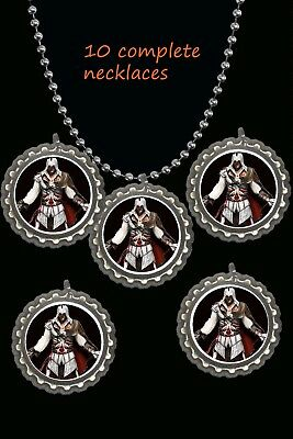 Assassins Creed BottleCap Necklaces great party favors lot of 10  cool favors