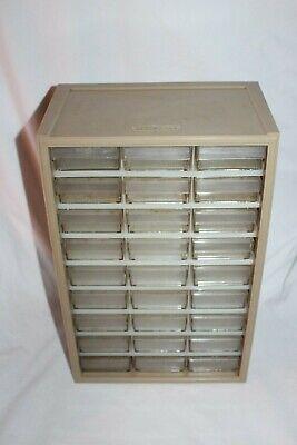 Vintage Craftsman 27 Drawer Plastic Hardware Nuts Bolts Storage Cabinet Bin
