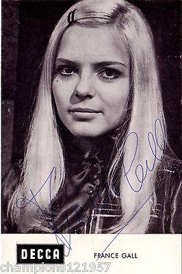 France Gall ++Autogramme++ ++Musik Legende 60er Jahre++